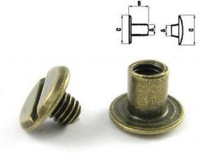 Chicago Steel Screw Post - Antique Brass. Code ZU1